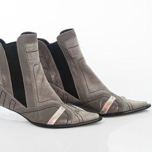 Shoes - Leather/suede European Boots - sz 41/10